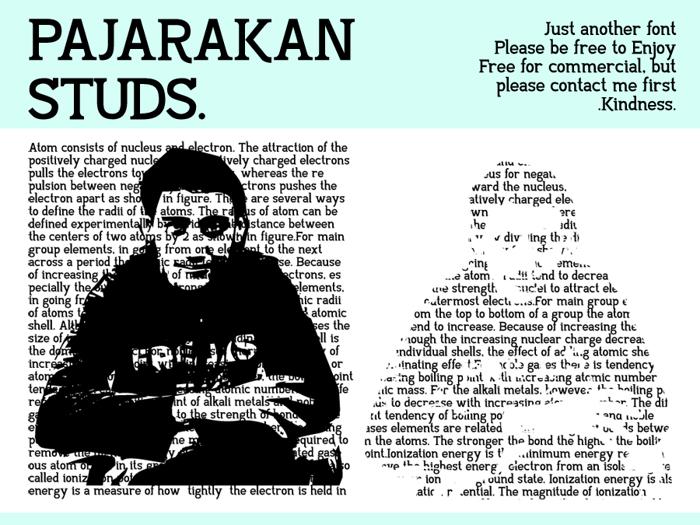 Pajarakan Studs Font poster