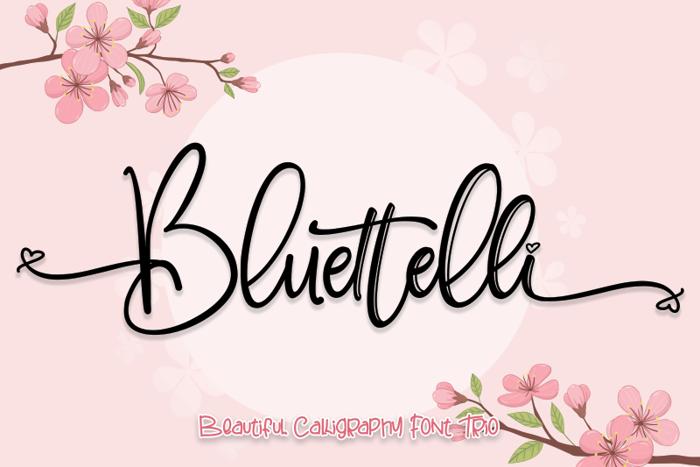 Bluettelli Font poster