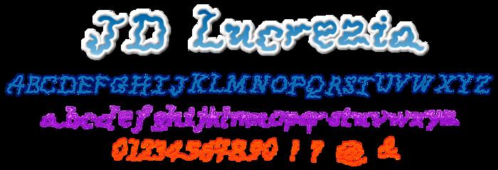 JDLucrezia Font poster