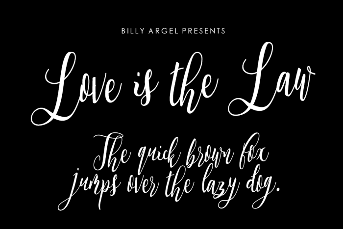 Love is the Law Font poster