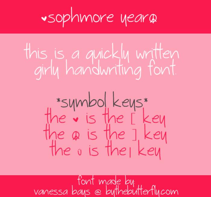 Sophmore Year Font