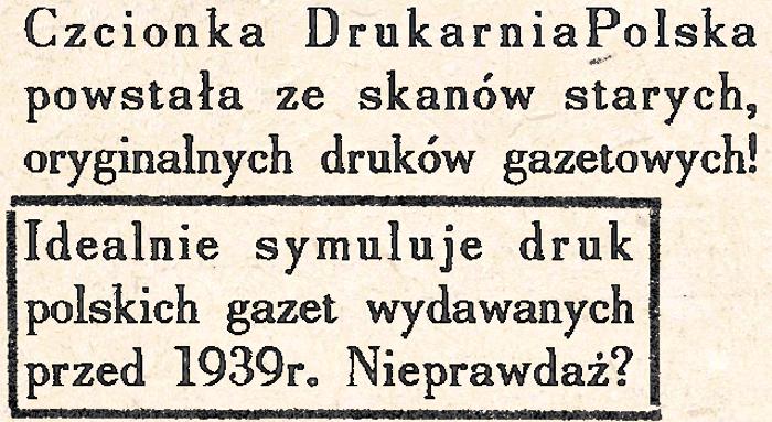 Drukarnia Polska Font poster