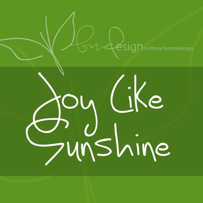 Joy Like Sunshine Through My Wi Font