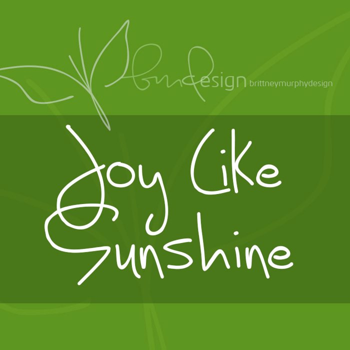 Joy Like Sunshine Through My Wi Font poster