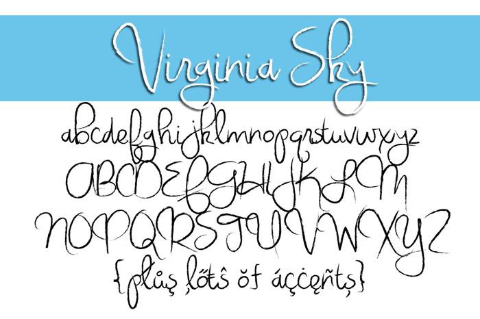 Virginia Sky Font poster