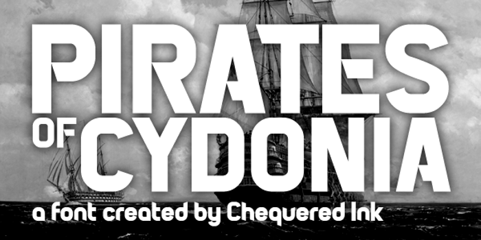Pirates of Cydonia Font poster