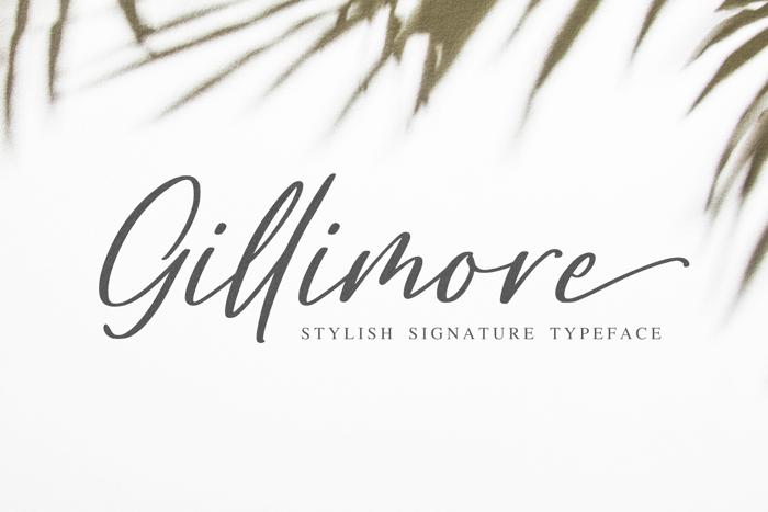 Gillimore Font poster