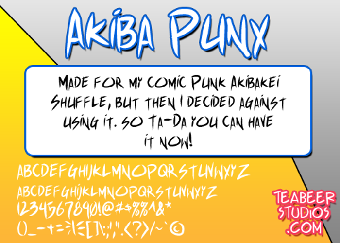 Akiba Punx Font poster