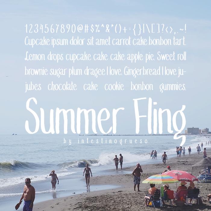 Summer Fling Medium Font poster
