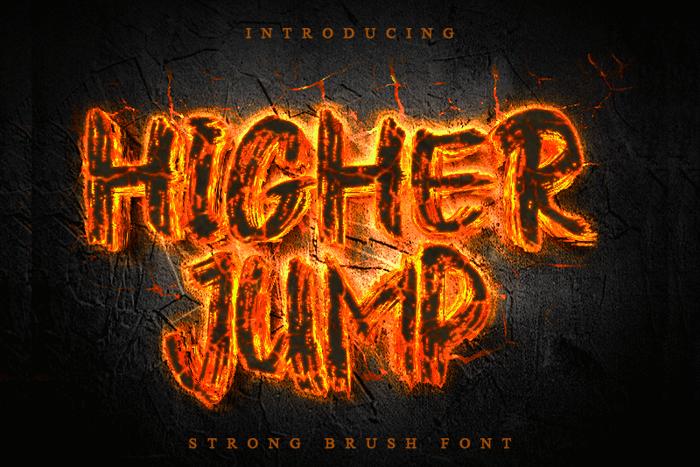 Higher Jump Font poster