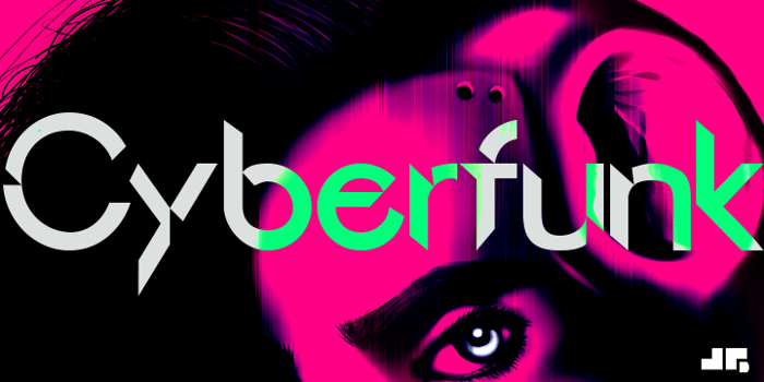 Cyberfunk Font poster
