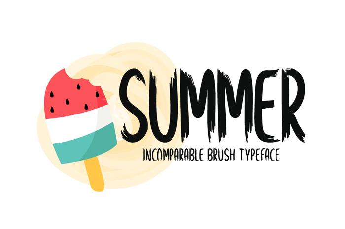 Summer Font poster