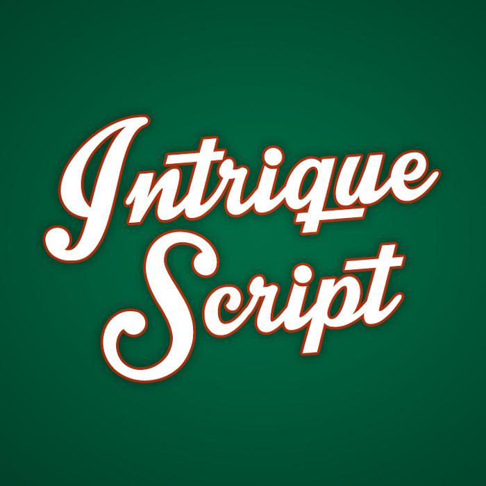 Intrique Script Font poster
