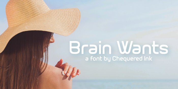 Brain Wants Font poster