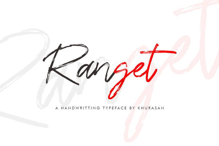 Ranget Font poster