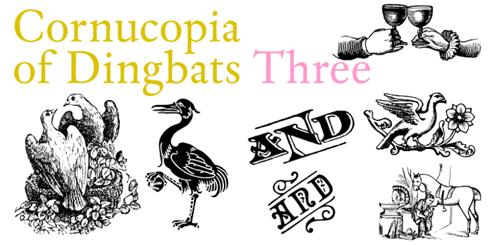 Cornucopia of Dingbats Three Font poster