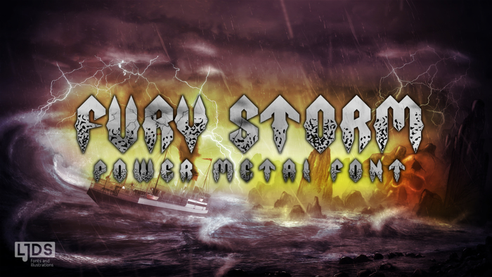 Fury Storm Font poster