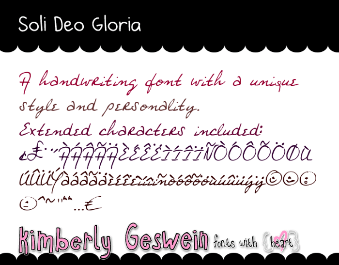 Soli Deo Gloria Font poster