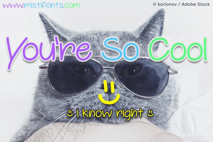 Youre So Cool Font poster