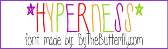 Hyperness Font poster
