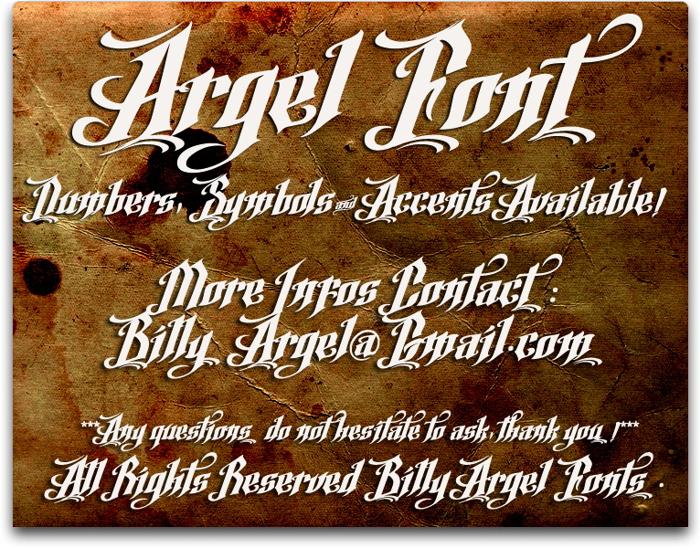 Argel Font poster