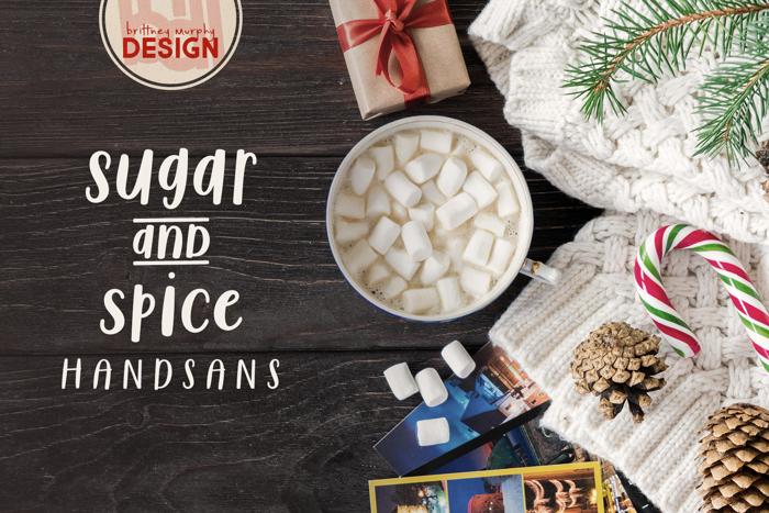 Sugar & Spice HandSans Font poster