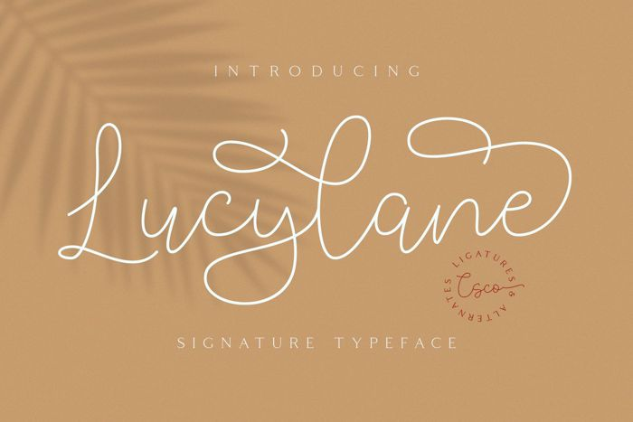 Lucylane Font poster