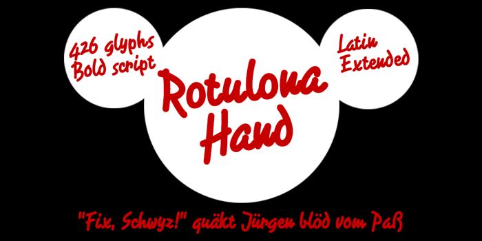 Rotulona Hand Font poster