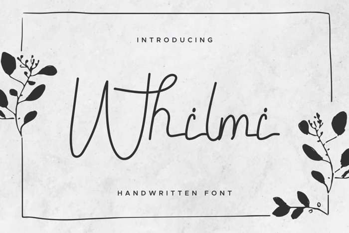 Whilmi Font poster