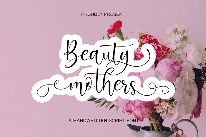 Beauty Mothers Font poster