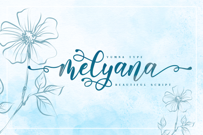 Melyana Font poster