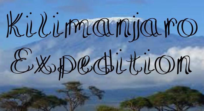 KilimanjaroExpedition Font poster