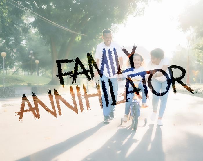 Family Annihilator Font poster