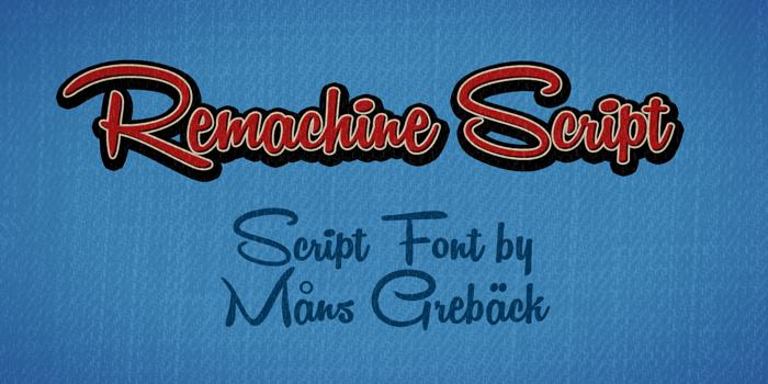 Remachine Script Font poster