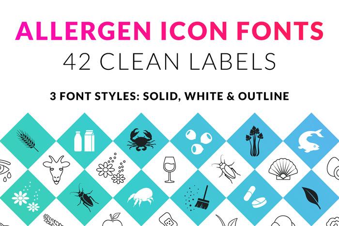 Allergen Outline Font poster