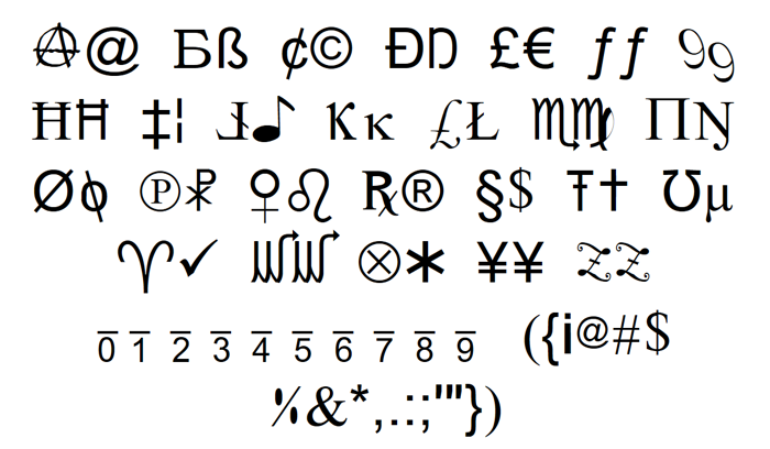 X-Cryption Font poster