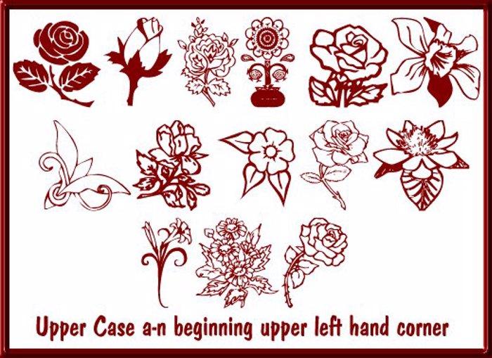 Floral Design Font poster