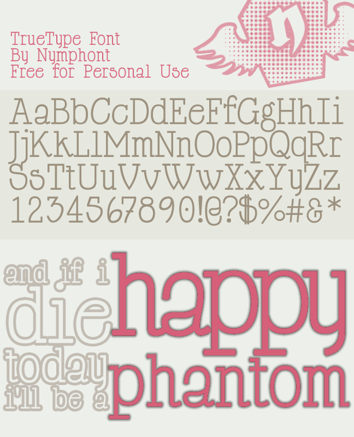 Happy Phantom Font poster