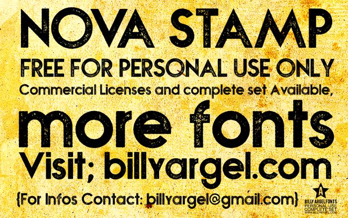 NOVA STAMP Font poster