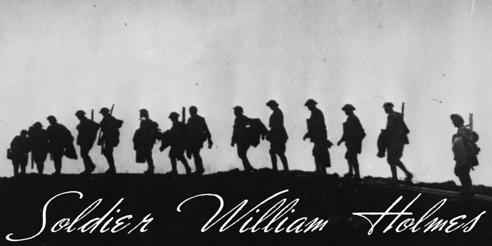 Soldier William Holmes Font poster
