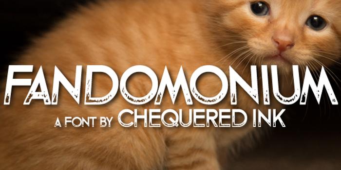 Fandomonium Font poster