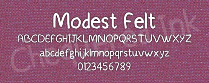 Modest Felt Font poster