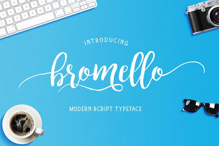 bromello Font poster