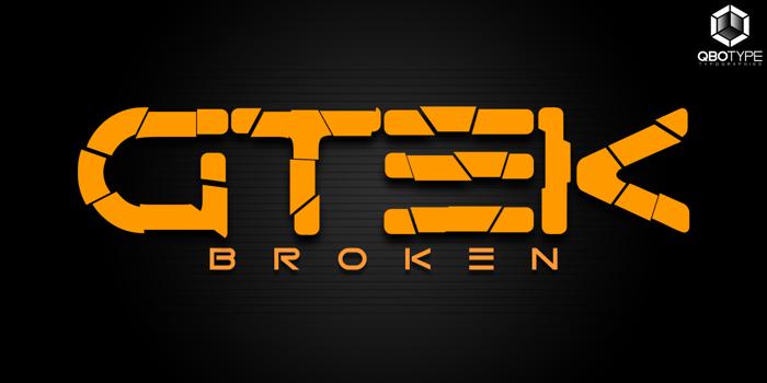 Gtek Broken Font poster