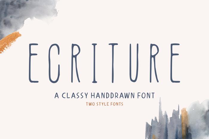 Ecriture Font poster