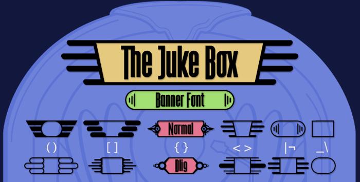 The Juke Box Font poster