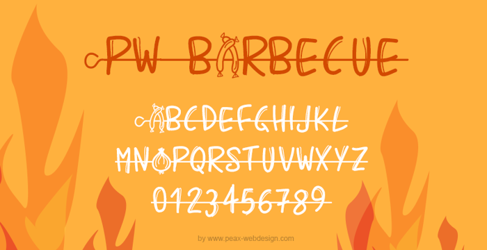 PWBarbecue Font poster