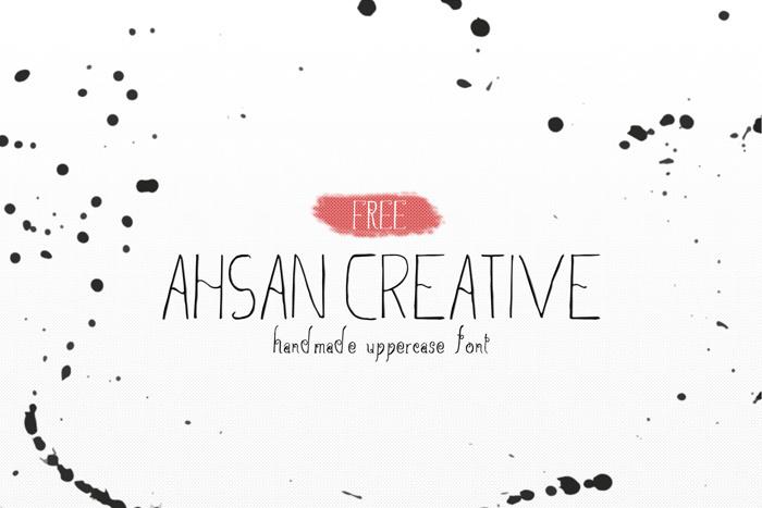 Ahsan Creative Font poster