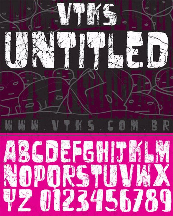 vtks untitled Font poster
