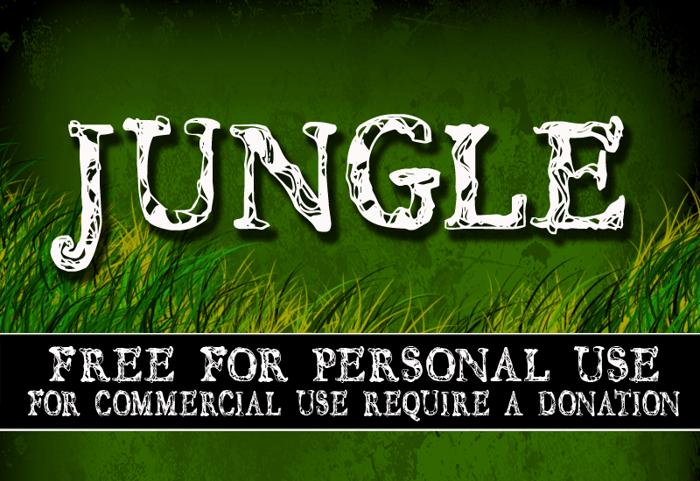 CF JUNGLE Font poster